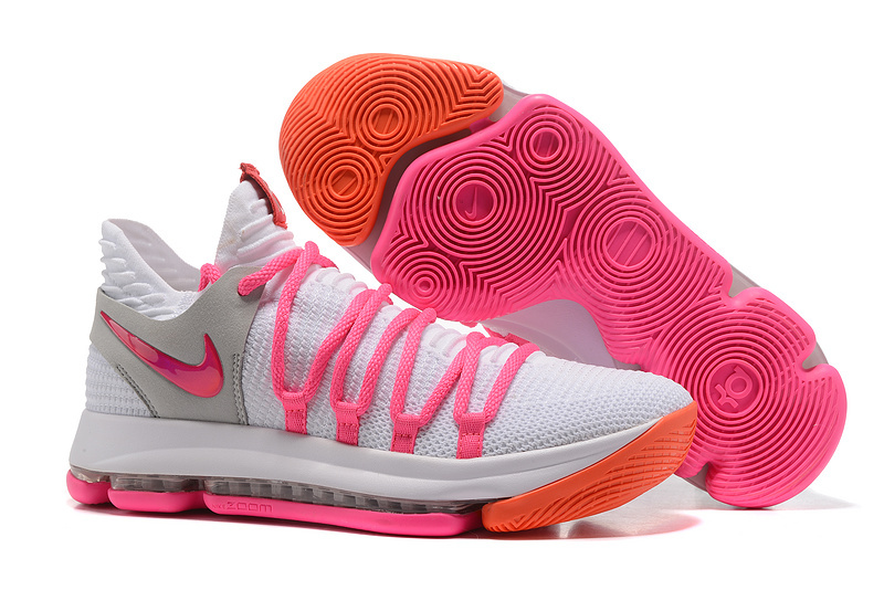 Nike KD 10 White Pink Shoes