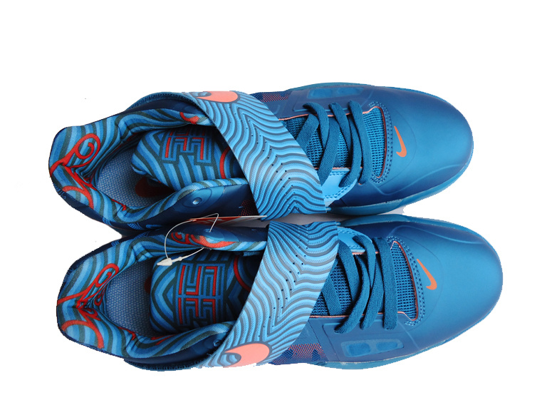 Nike Kevin Durant 4 All Blue Red Logo Shoes