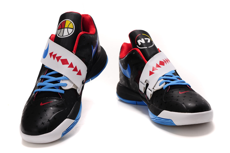 Nike Kevin Durant 4 Black White Baby Blue Shoes