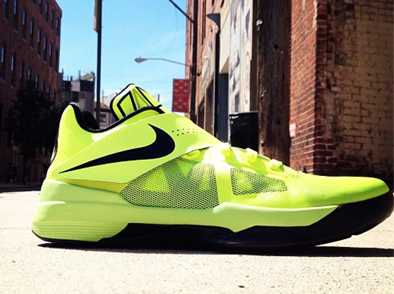 Nike Kevin Durant 4 Green Black Logo Shoes