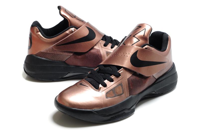 Nike Kevin Durant 4 Shine Coffe Black Logo Shoes