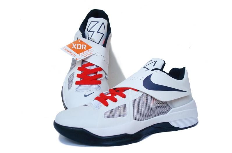 Nike Kevin Durant 4 White Blue Red Shoes