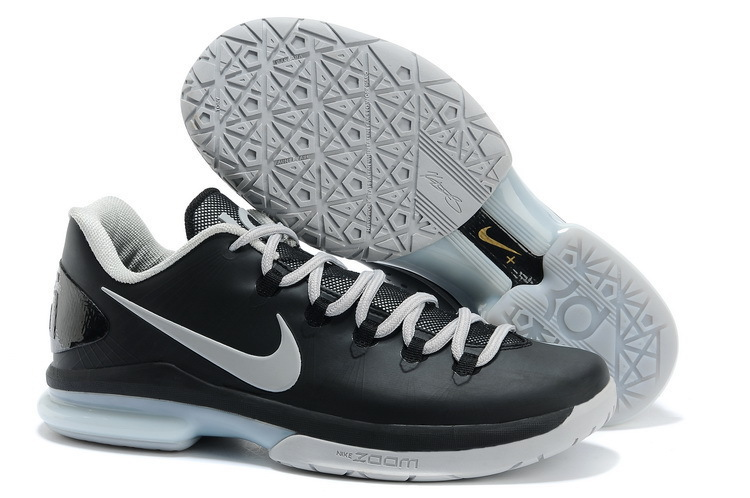 Nike Kevin Durant 5 Black Grey Basketball Shoes