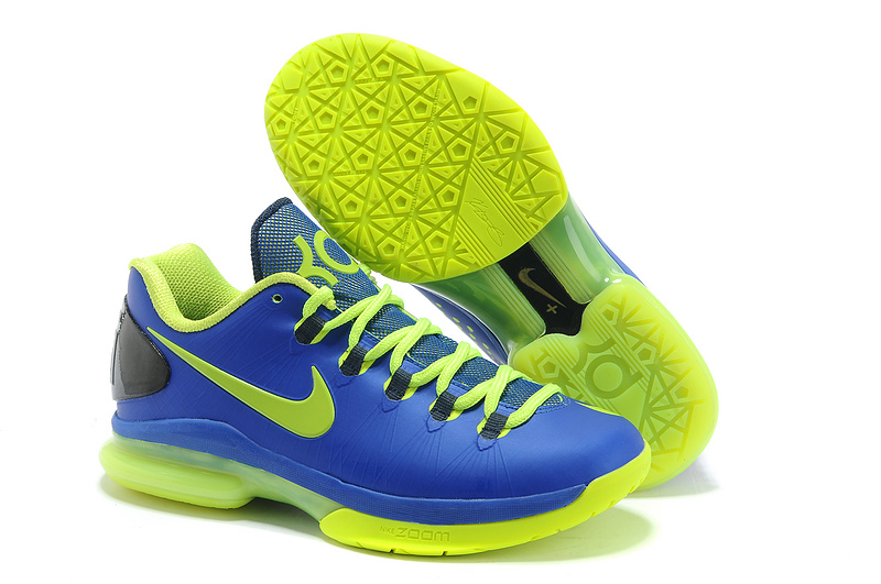 Nike Kevin Durant 5 Blue Green Basketball Shoes
