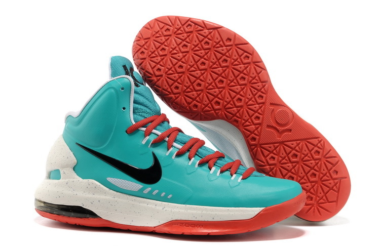 Nike KD 5 High Blue Red White Basketball Shoes