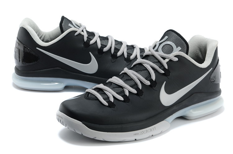 Nike Kevin Durant 5 Low Black Grey Basketball Shoes