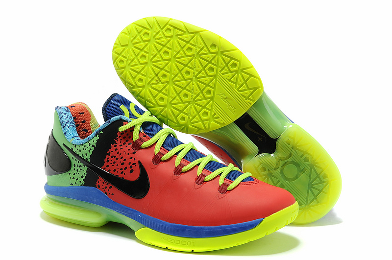 Nike Kevin Durant 5 Red Green Blue Black Shoes