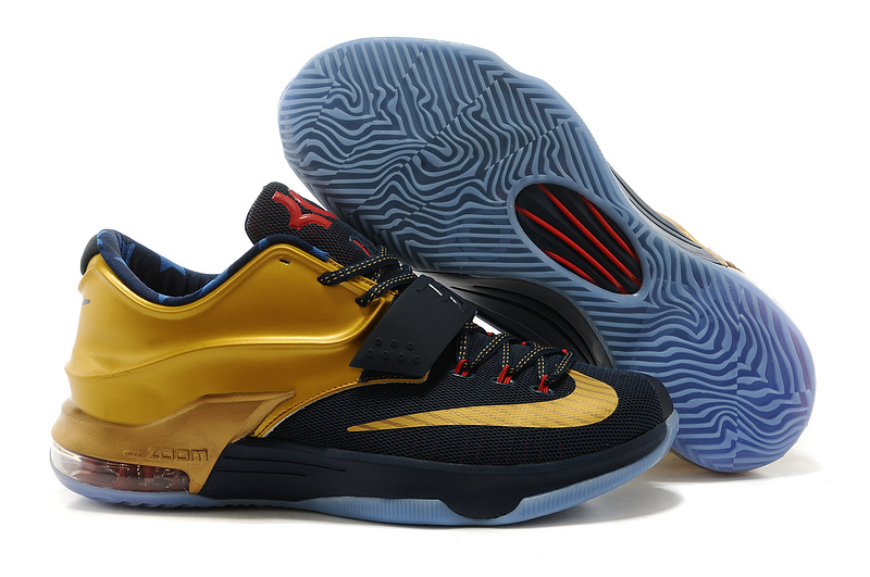 Nike Kevin Durant 7 Black Gold Red Basketball Shoes
