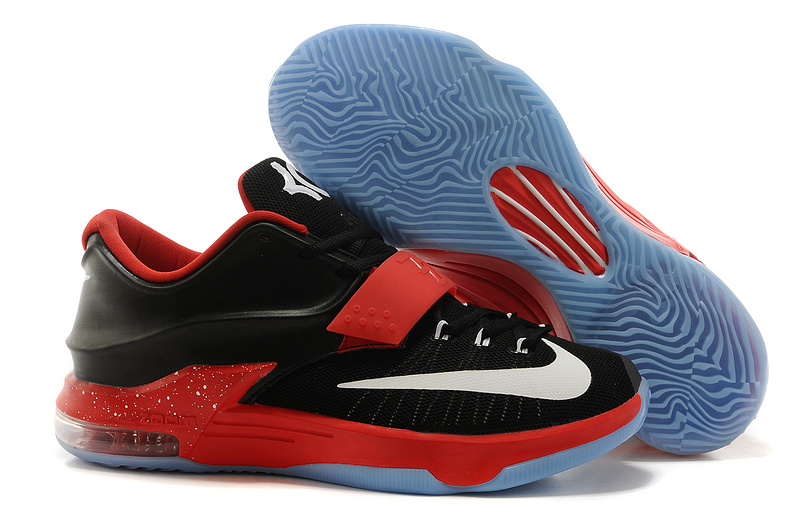 Nike Kevin Durant 7 Black Red White Basketball Shoes