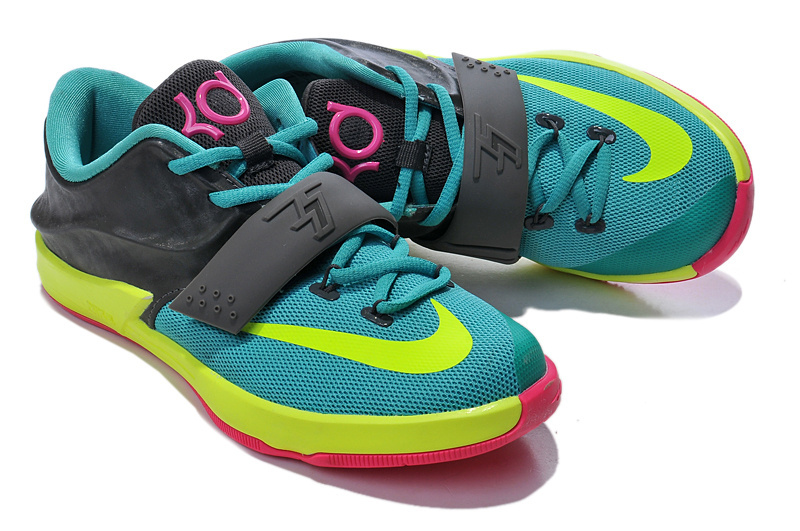 Kid's Kevin Durant 7 Blue Black Yellow Pink