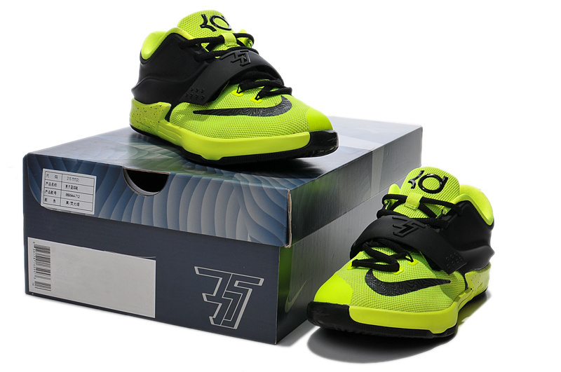 Kid's Kevin Durant 7 Fluorsecent Green Black