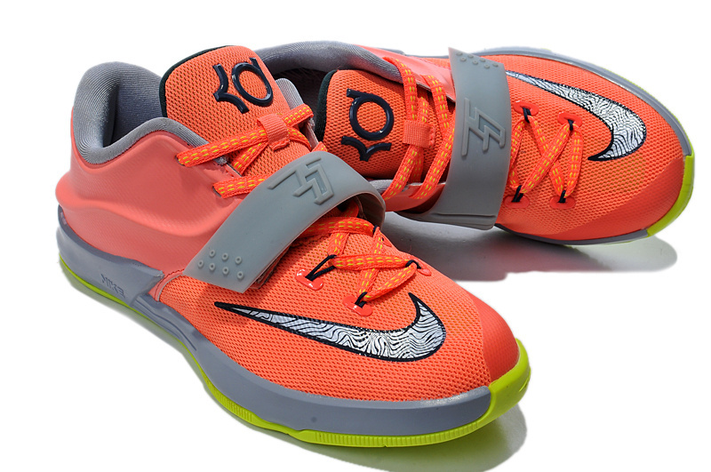 Kid's Kevin Durant 7 Orange Grey