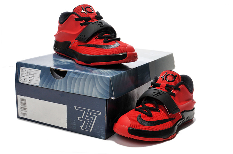 Kid's Kevin Durant 7 Red Black