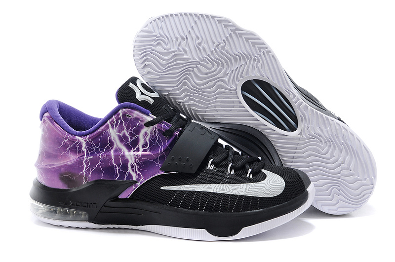 Nike Kevin Durant 7 Thunder Black Purple White Shoes