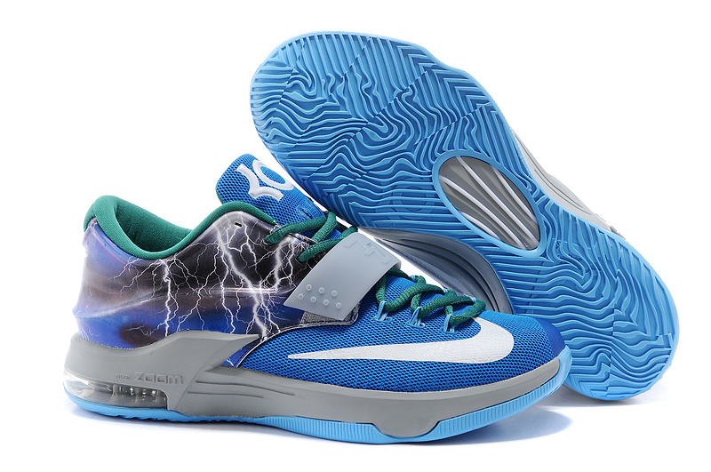 Nike KD 7 Thunder Blue Grey White Shoes