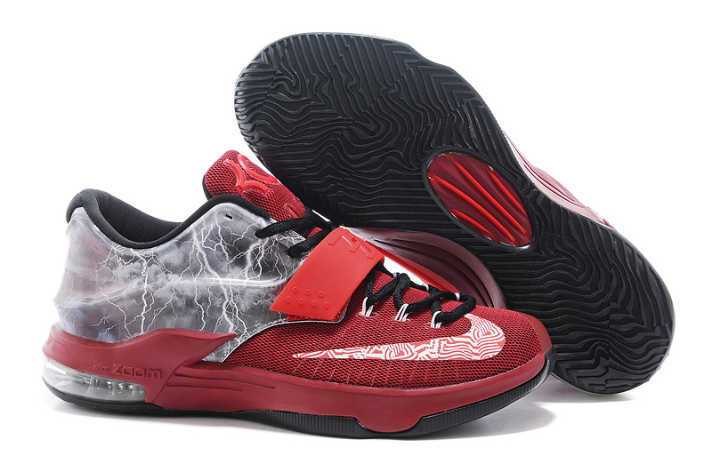 Nike KD 7 Thunder Wine Red Black Shoes