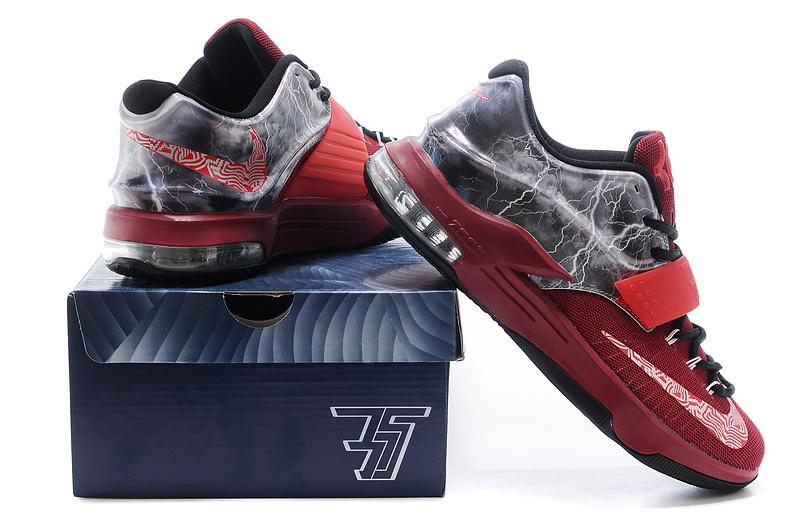14598513b79 Nike KD 7 Thunder Wine Red Black Shoes 2015 Nike KD 7 Thunder Wine ...