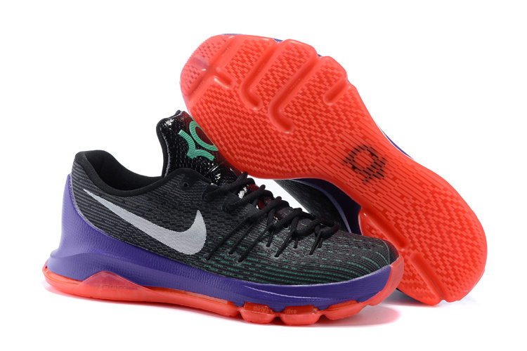 Nike KD 8 Dual Black Purple Orange Basketball Shoes