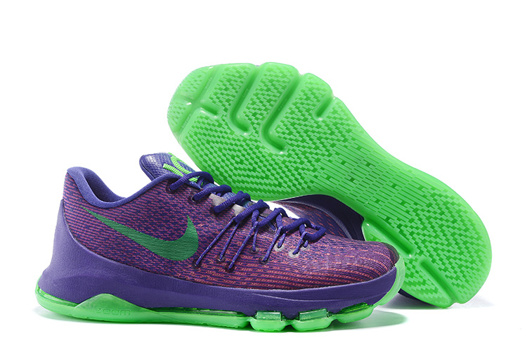 Nike KD 8 Fluorscent Purple Green Basketball Shoes