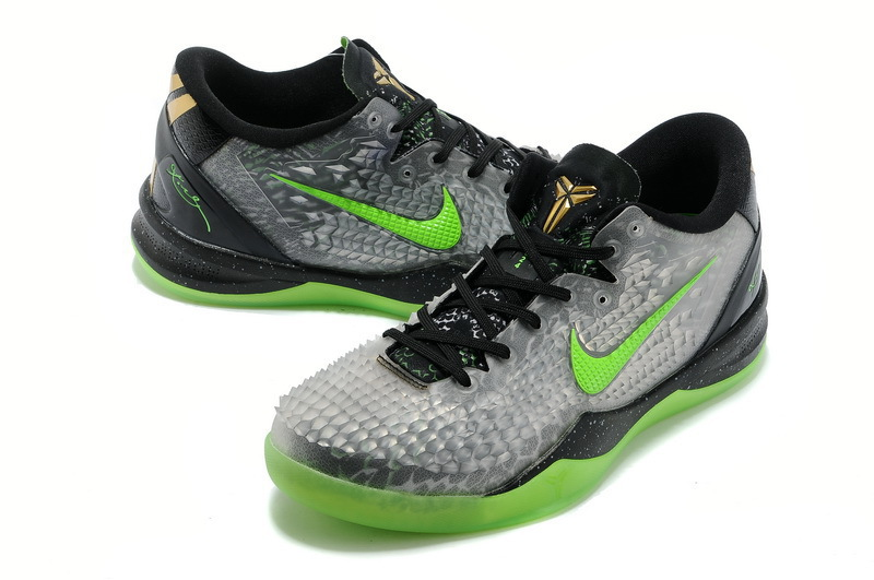 Nike KB 8 Grey Black Green Basketball Shoes
