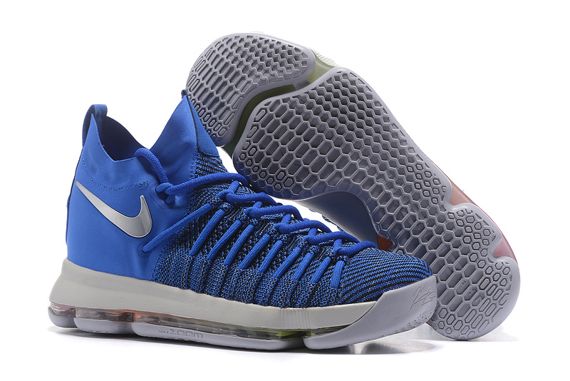 Nike KD 9 Elite Blue Silver Shoes
