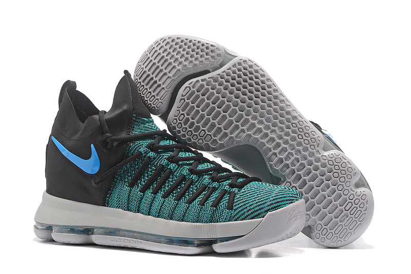 Nike KD 9 Elite Green Black Blue Shoes