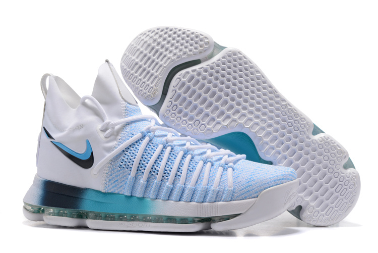Nike KD 9 Elite Playoff White Blue Shoes