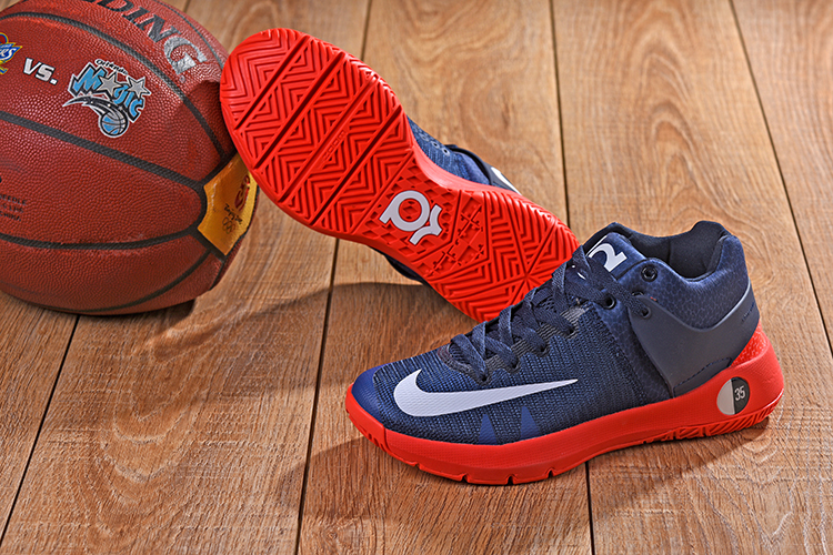 Nike KD Trey 5 Dark Blue Red Shoes
