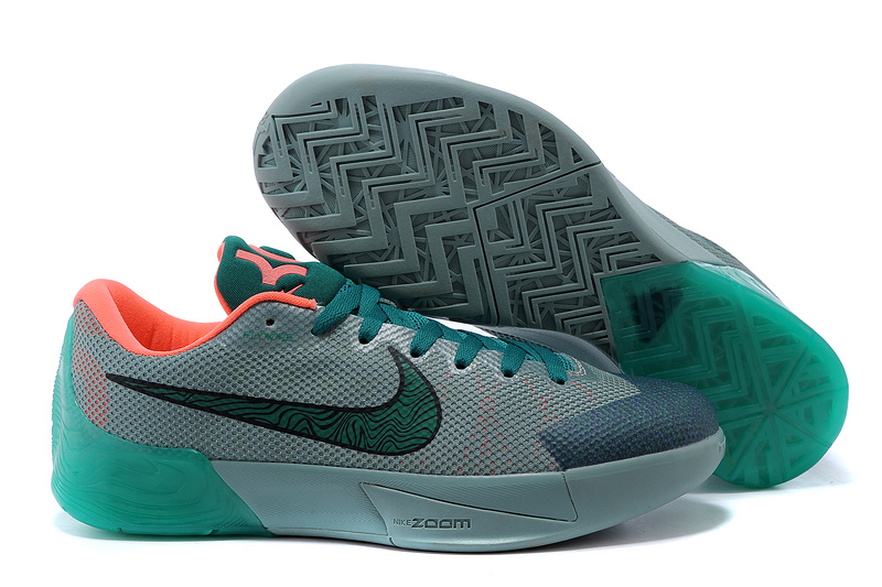 Nike KD Trey 5 II Flywire Grey Green Orange Shoes