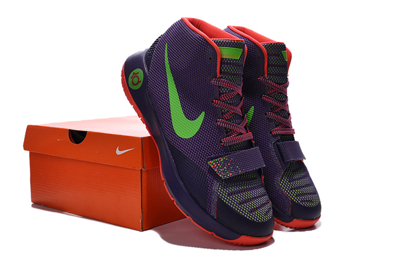 Nike KD Trey 5 III Purple Orange Green Shoes