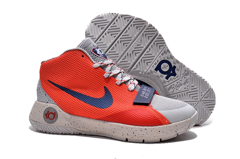 Nike KD Trey III Limited White Blue Reddish Orange Shoes
