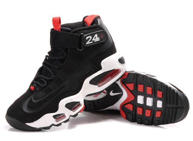 Women's Nike Ken Griffe Black White Red Shoes
