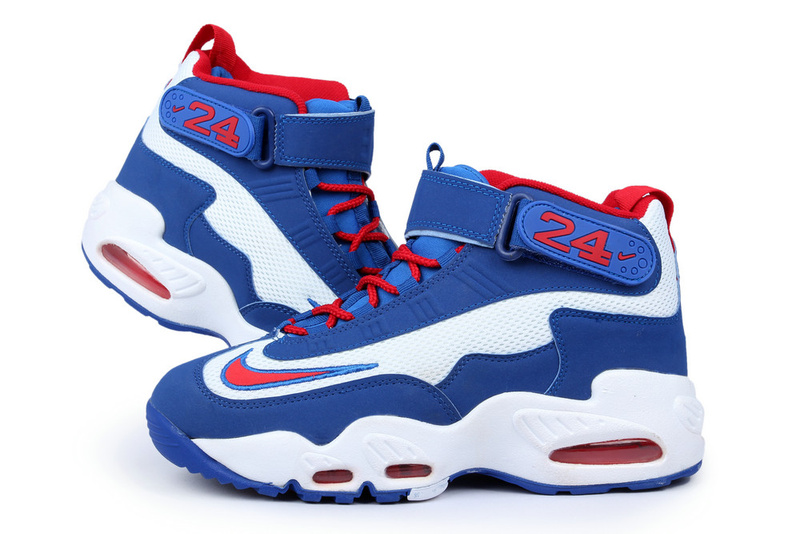 Classic Nike Ken Griffe Shoes Blue White Red