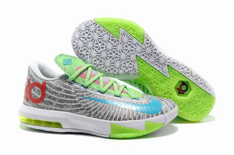 Nike Kevin Durant 6 Low Grey White Green