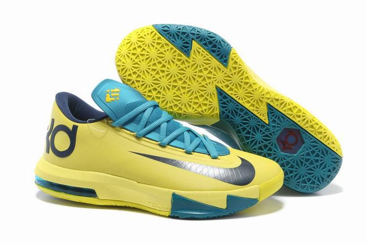 Nike Kevin Durant 6 Low Light Yellow Blue