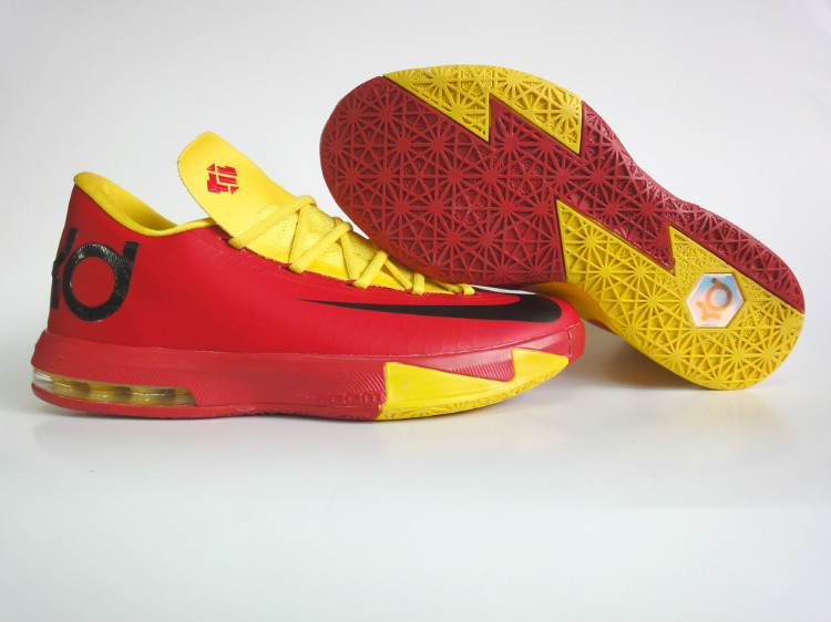 Nike Kevin Durant 6 Low Red Yellow