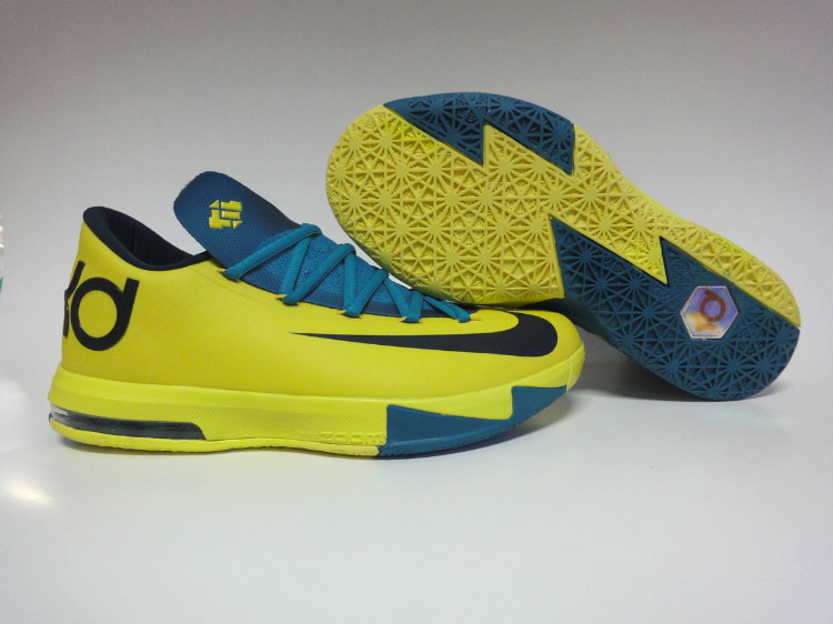 Nike Kevin Durant 6 Low Yellow Blue Black
