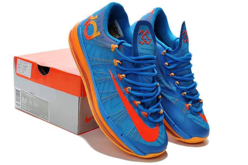Nike Kevin Durant 6.5 Blue Orange Shoes