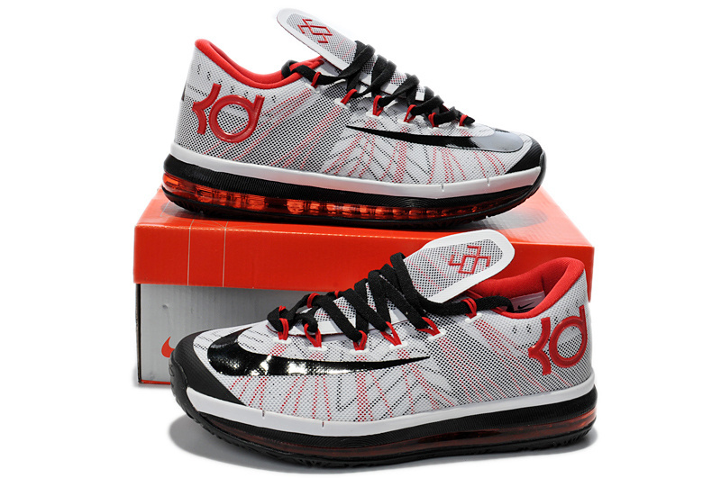 Nike Kevin Durant 6.5 White Black Red Shoes