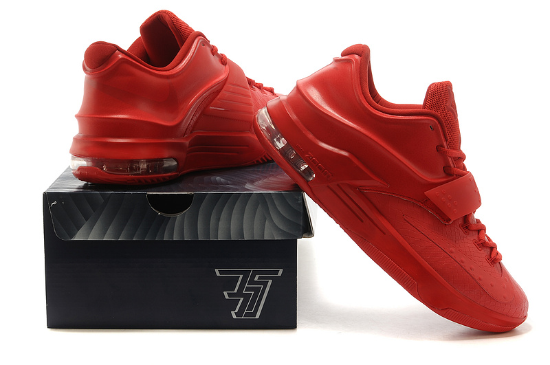 Nike Kevin Durant 7 All Red Snakeskin Shoes