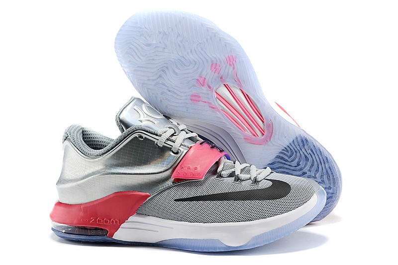 wholesale dealer 692f7 11068 Nike Kevin Durant 7 All Star Grey Silver Red Shoes
