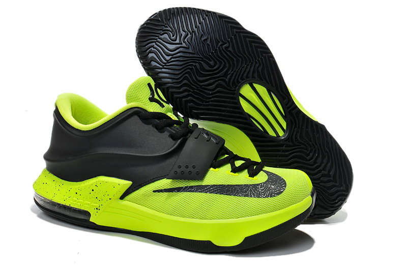 Nike Kevin Durant 7 Black Fluorscent Green Shoes