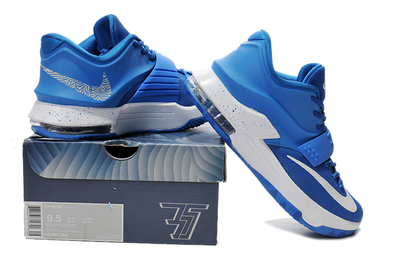 Cheap Nike Kevin Durant 7 Blue White Shoes Online Sale