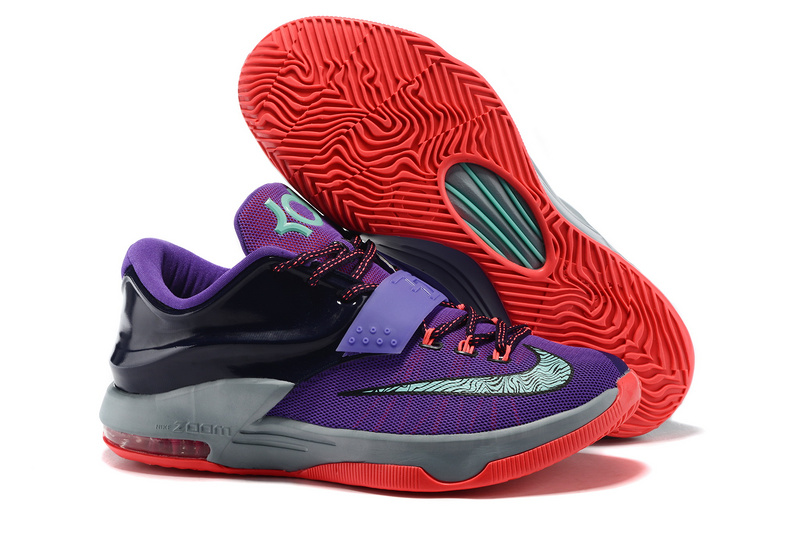 Nike Kevin Durant 7 Purple Grap Grey Black Red Shoes