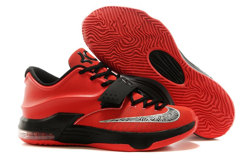 Nike Kevin Durant 7 Red Black Basketball Shoes