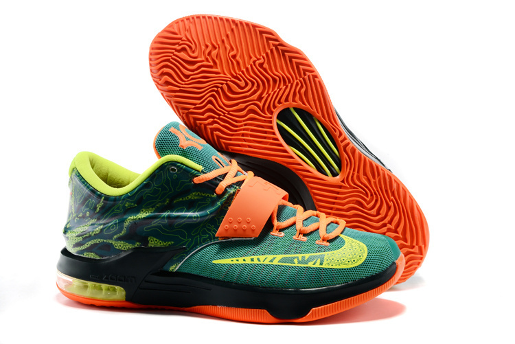 Nike Kevin Durant 7 Weathman Green Black Orange Shoes