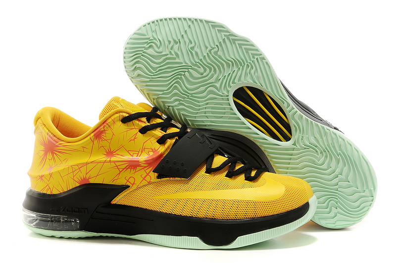 Nike Kevin Durant 7 Yellow Black Basketball Shoes