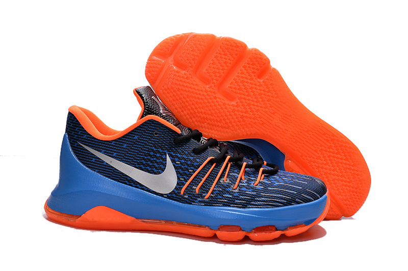 Nike Kevin Durant 8 Blue Black Orange Shoes