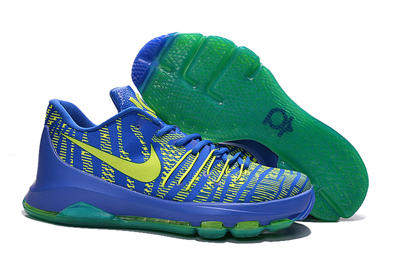 Nike Kevin Durant 8 Blue Fluorscent Green Shoes