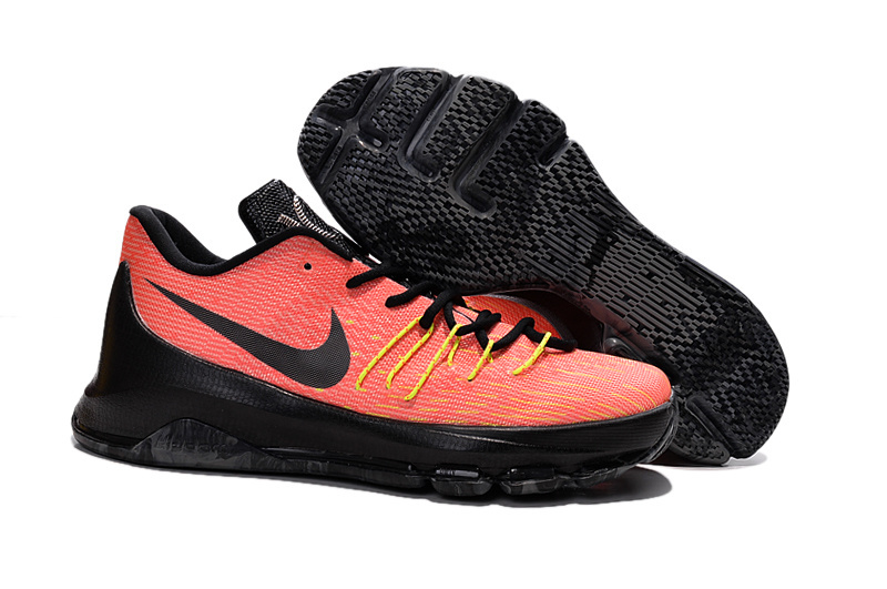 Nike Kevin Durant 8 Orange Black Yellow Shoes